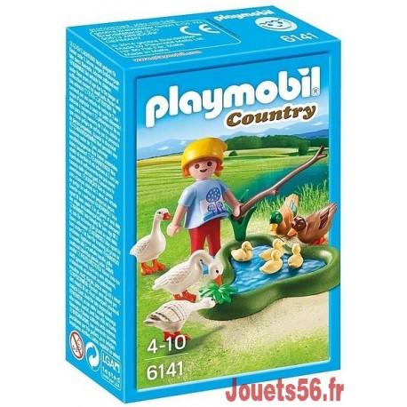 6141 ENFANT AVEC OIES ET CANARDS-jouets-sajou-56