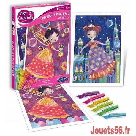 PRINCESSES TABLEAUX A PAILLETER-jouets-sajou-56