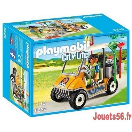 6636 SOIGNEUR ANIMALIER ET VEHICULE-jouets-sajou-56