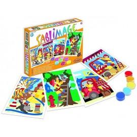 SABLIMAGE POMPIERS -jouets-sajou-56