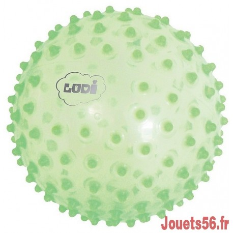 BALLE SENSORIELLE VERTE-jouets-sajou-56