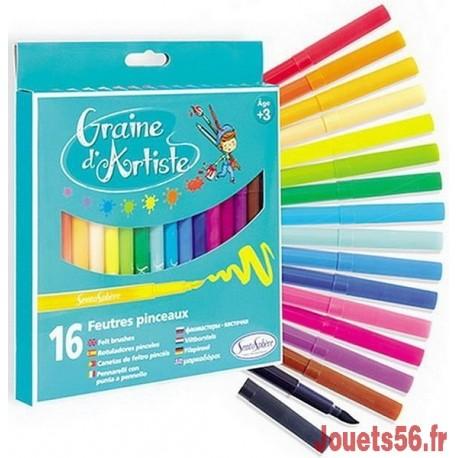 12 FEUTRES PINCEAUX GRAINE D'ARTISTE-jouets-sajou-56