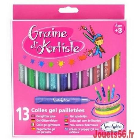 13 STYLOS COLLES GEL PAILLETEES GRAINE D'ARTISTE-jouets-sajou-56