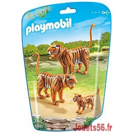 6645 COUPLE DE TIGRES ET BEBE-jouets-sajou-56