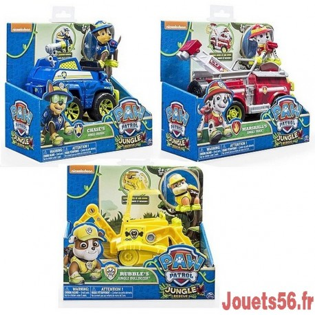 vehicule et figurine pat patrouille jungle rescue. Black Bedroom Furniture Sets. Home Design Ideas