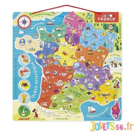 PUZZLE FRANCE MAGNETIQUE - Jouets56.fr - Magasins Jouets SAJOU du Morbihan en Bretagne