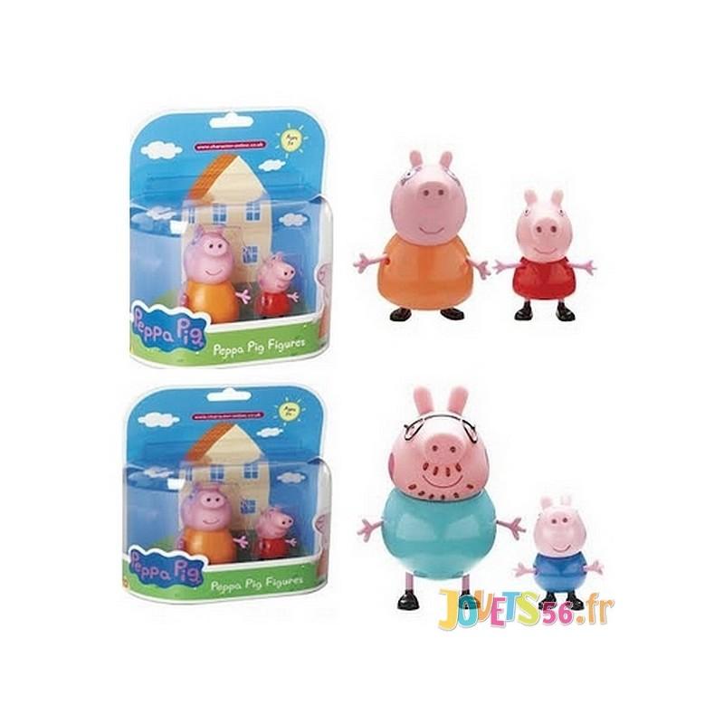 Figurines Peppa Pig 1 Adulte Et 1 Enfant Asst Jouets56 Fr