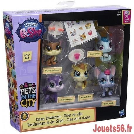 MULTIPACK PETSHOP 5 PERSONNAGES ROCK GROUPE-jouets-sajou-56