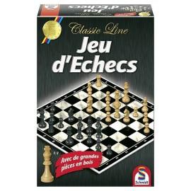 JEU D'ECHECS AVEC PIECES EN BOIS - Jouets56.fr - Magasins Jouets SAJOU du Morbihan en Bretagne