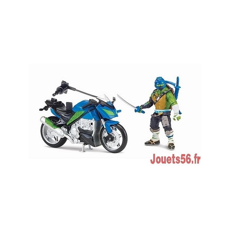 Vehicule avec figurine articulee tortue ninja 12cm - Vehicule tortue ninja ...