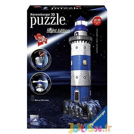 PUZZLE 3D PHARE NIGHT EDITION 216PC - Jouets56.fr - Magasins Jouets SAJOU du Morbihan en Bretagne