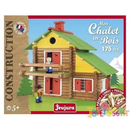 MON CHALET EN BOIS 175 PIECES - Jouets56.fr - Magasins Jouets SAJOU du Morbihan en Bretagne