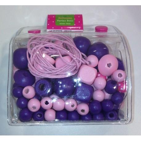 MINI SAC PERLES BOIS ROSE-jouets-sajou-56