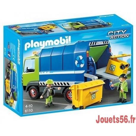 6110 CAMION DE RECYCLAGE -jouets-sajou-56