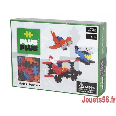 PLUS PLUS BOX MINI BASIC AVIATION 170 PC-jouets-sajou-56