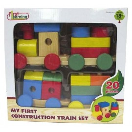 TRAIN BOIS 20 PIECES