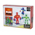 PLUS PLUS BOX MINI NEON ROBOTS 170 PC