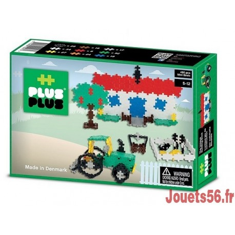 PLUS PLUS BOX MINI BASIC FERME 480 PC-jouets-sajou-56