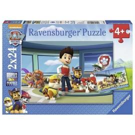 PUZZLE PAW PATROL 2X24 PCES-jouets-sajou-56
