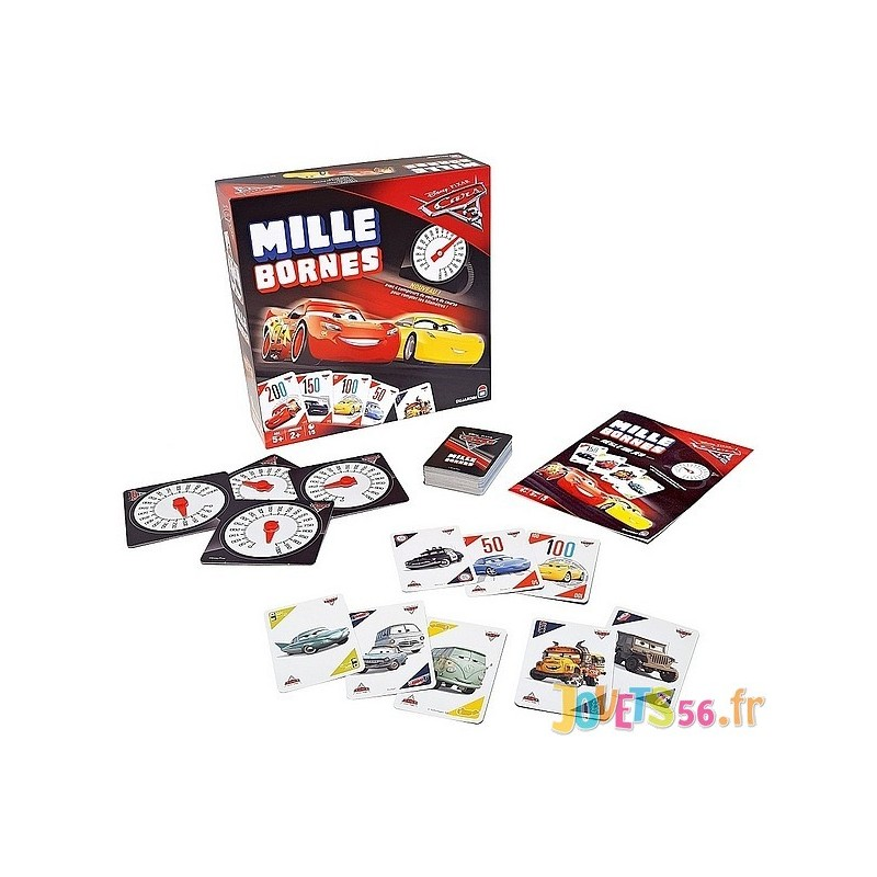 jeu mille bornes cars 3. Black Bedroom Furniture Sets. Home Design Ideas