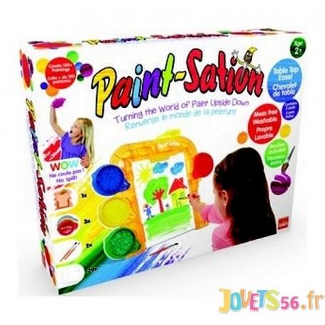 paint station chevalet de table peinture 3 pots. Black Bedroom Furniture Sets. Home Design Ideas