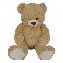 PELUCHE OURS BEIGE 90CM