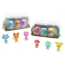 PACK 3 FIGURINES GLIMMIES RAINBOW FRIENDS ASST
