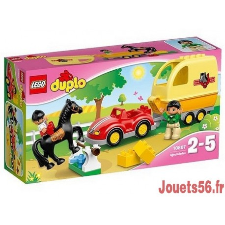 10807 LA REMORQUE A CHEVAUX DUPLO-jouets-sajou-56