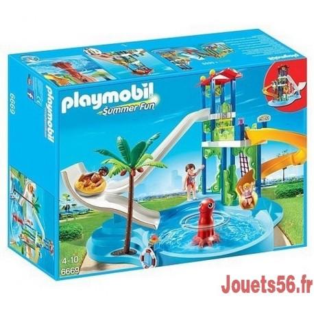 6669 PARC AQUATIQUE AVEC TOBOGGANS GEANTS-jouets-sajou-56