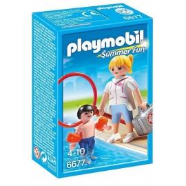 6677 MAITRE NAGEUR AVEC ENFANT-jouets-sajou-56