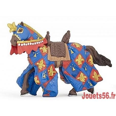 CHEVAL BLEU FLEUR DE LYS-jouets-sajou-56