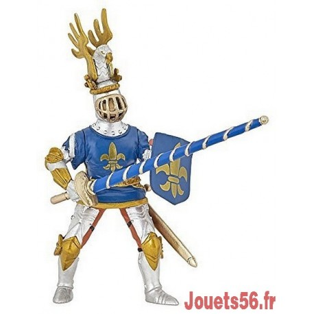CHEVALIER BLEU FLEUR DE LYS-jouets-sajou-56