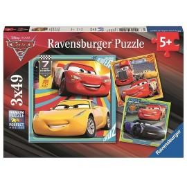 PUZZLE LES LEGENDES DE LA ROUTE CARS3 3X49PCES