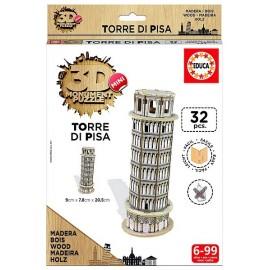 MINI PUZZLE TOUR DE PISE 3D BOIS 32PCES
