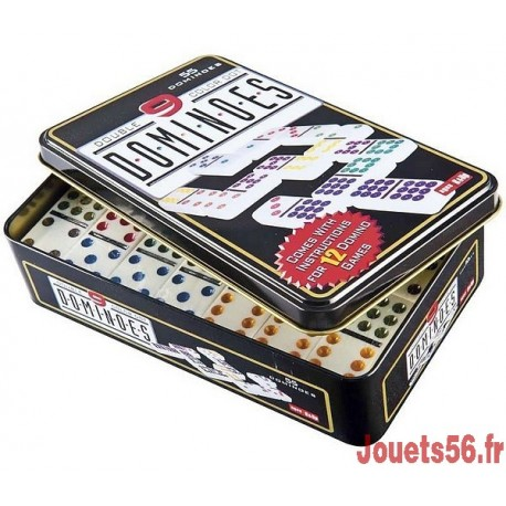 DOMINOS DOUBLE 9-jouets-sajou-56