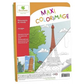 MAXI COLORIAGE MONUMENTS DU MONDE - Jouets56.fr - Magasins Jouets SAJOU du Morbihan en Bretagne