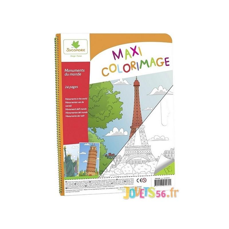 Maxi coloriage monuments du monde - Maxi coloriage ...