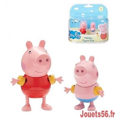 PEPPA PIG EN VACANCES 2 FIGURINES -jouets-sajou-56