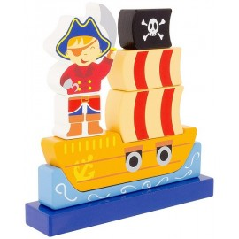 PUZZLE MAGNETIQUE PIRATE 8 PIECES EN BOIS