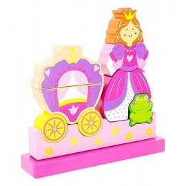 PUZZLE MAGNETIQUE LA PRINCESSE 10 PIECES EN BOIS