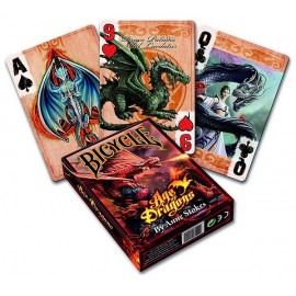 CARTES BICYCLE AGE OF DRAGONS BY ANNE STOCKES