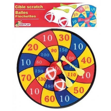 CIBLE SCATCH 2 BALLES ET 2 FLECHETTES 30CM-jouets-sajou-56