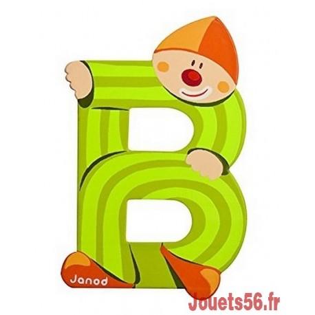 LETTRE B - CLOWN BOIS PEINT-jouets-sajou-56