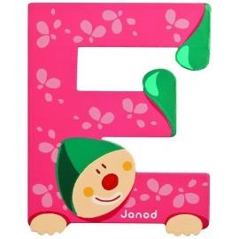LETTRE E - CLOWN BOIS PEINT-jouets-sajou-56