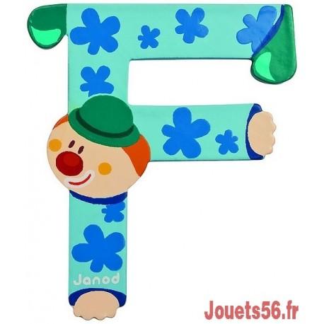 LETTRE F - CLOWN BOIS PEINT-jouets-sajou-56