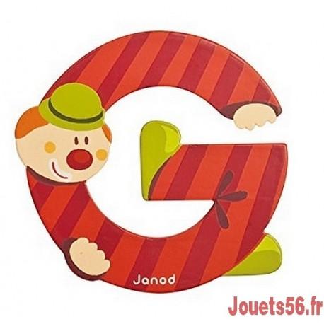 LETTRE G - CLOWN BOIS PEINT-jouets-sajou-56