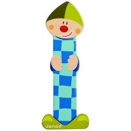 LETTRE I - CLOWN BOIS PEINT-jouets-sajou-56
