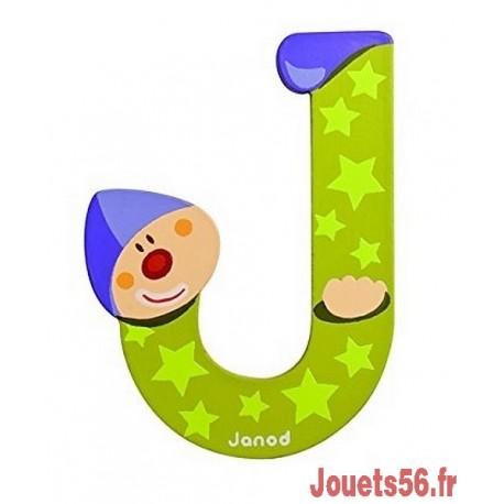 LETTRE J - CLOWN BOIS PEINT-jouets-sajou-56