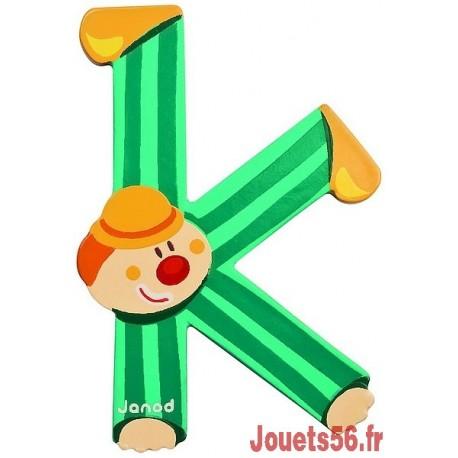 LETTRE K - CLOWN BOIS PEINT-jouets-sajou-56