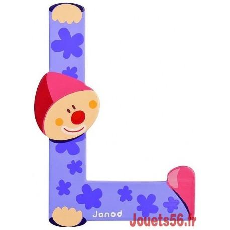 LETTRE L - CLOWN BOIS PEINT-jouets-sajou-56